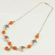 Fashion Red Aventurine Necklaces, Iron Chains with Tibetan Style Beads -- Jewelish.com