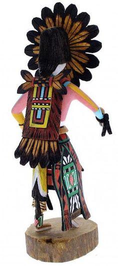 Hopi Tawa or Sun Kachina Doll Native American Ron Duwyenie KX40165 -4