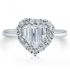 Sterling Silver Cubic Zirconia CZ Heart Shape Fashion Ring