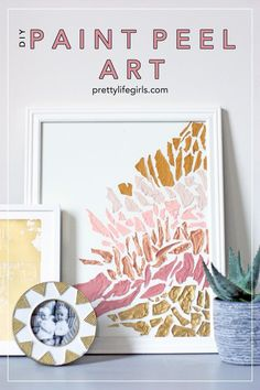 How to Make Paint Peel Art: a Complete Tutorial Diy Projects For Kids, Diy Home Decor Projects, Crafts For Kids, Project Ideas, Craft Projects, Diy Wall Art, Diy Art, Paper Picture Frames, How To Make Paint