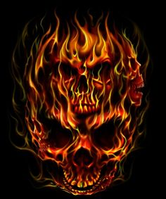 FLAME SKULL by Adrian Balderrama | ArtWanted.com