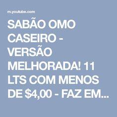 SABÃO OMO CASEIRO - VERSÃO MELHORADA! 11 LTS COM MENOS DE $4,00 - FAZ EM 5 MINUTOS - Fran Adorno - YouTube