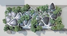 palm leaf canopies form 'oasys' outdoor refuge within abu dhabi urban fabric Rub' Al Khali, Urban Heat Island, Urban Fabric, Image Fun, Architect Design, Island Design, Abu Dhabi, Global Design, Design Competitions