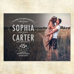 Digital Printable Photo Wedding Invitation and RSVP Postcard