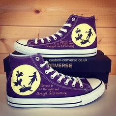 beb01fd5ad8fb4 Peter Pan Converse  converse  customconverse... Awesome Converse Shoes