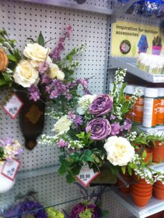 SBA purple floral arrangements 2014 by kristy@michaels 1091