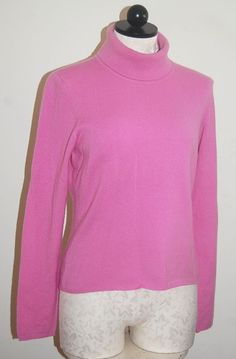 a5af5b7dae HAWICK of Scotland 100% Cashmere Woman s Pink Turtleneck Sweater M   HAWICKofScotland  Turtleneck