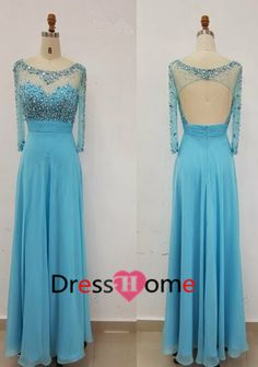 2014 Open Back Prom Dress Blue Prom Dress / Long by DressHome, $159.99( Almost reminds me of Elsa's)