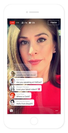 YouTube is adding a live-streaming option to its mobile app, the company…