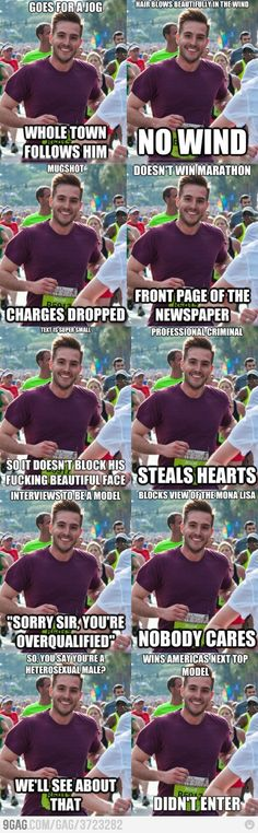 White Girl Problem- not being as photogenic as The Ridiculously Photogenic Guy from the College of Charleston. Seriously, who runs a marathon and looks this good?
