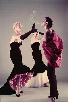 Balenciaga, spring 1951. Photo: Gjon Mili for LIFE magazine.