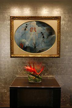 Salvador Dali's 1957 Femmes metamorphosées – les sept arts hanging in The Restaurant at the Dolder Grand.
