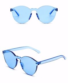 a3e877a258 60s Mod perspex sunglasses - blue