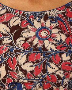 Buy Multicoloured Indie Picks Kalamkari Print Cotton Blouse Kalamkari Designs, Kalamkari Painting, Cotton Blouses, Printed Cotton, Blouses For Women, Digital Prints, Indie, Tapestry, Paintings