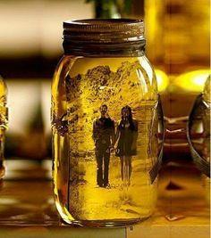 Фотография в банке с маслом