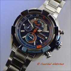 7e9656c416 Seiko Velatura SPC143P1 Yatching Timer Blue Bezel Stainless Steel cal 7T84