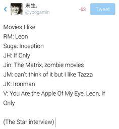 BTS on Star Interview