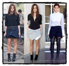 2015 Kış Modası Simetrik #Kesim Etek Modelleri #moda #giyim #kadin