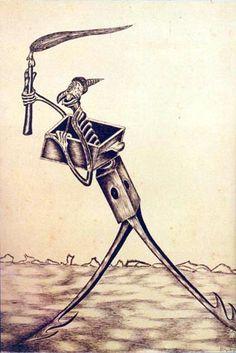 Bruxa rouba armadilha / 1969 / Nanquim sobre papel pardo / 0,510x0,363 m:imagem 9
