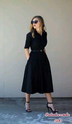 vestido preto... - Street Fashion
