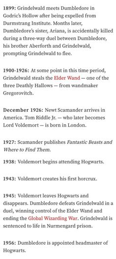 Timeline of the Wizarding World and where Fantastic Beasts fits within it. According to Jo the films will span 19 years in the Wizarding World and end in 1945.