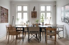 Delightful Swedish apartment displaying efficient layout