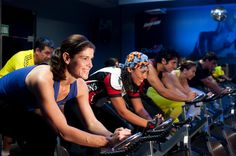 Party at indoor cycling class! #fitness