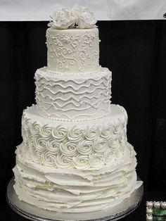 Modern Elegance | Made at Sweet Treets Bakery in Austin, TX  #Wedding #Cake #Elegance #Textures