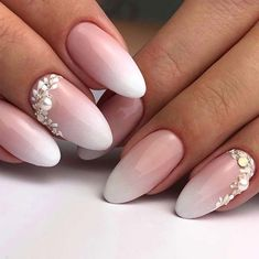 Perfect Wedding Nails nails baby boomer 41 of the Most Beautiful French Ombre Nails Bride Nails, Wedding Nails For Bride, Plum Wedding, Cute Nail Designs, Acrylic Nail Designs, Acrylic Nails, 3d Nails, Coffin Nails, Art Designs