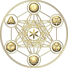 """Platonic Solids, Metatrons Cube, Flower of Life"""" Stickers by nitty . Sacred Geometry Symbols, Sacred Geometry Tattoo, Flower Mandala, Mandala Art, Platonic Solid, Alchemy Symbols, Crystal Grid, Sacred Art, Art Techniques"""