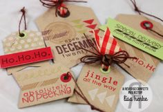Handmade Christmas tags!