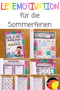 Reading Motivation for Elementary School - Learn German With Fun - Education subject Reading Motivation, Learn German, Creative Teaching, Home Schooling, Teaching Materials, Elementary Education, Primary School, Literacy, Fun Facts