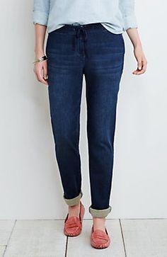 drawstring easy jeans