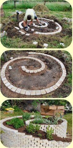 Aromatic spiral on pinterest spirals medicinal herbs for Jardin aromatique