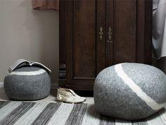 fivetimesone — stONE No.5 dark grey poufs www.fivetimesone.com
