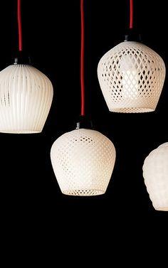 A Dozen Elegant, 3-D-Printed Lamp Shades