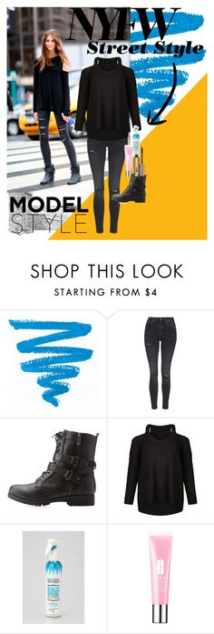 """""""The best NYFW street look"""" by tessiehalldin ❤ liked on Polyvore featuring Topshop, Bamboo, Not Your Mother's, Clinique, Benefit, women's clothing, women, female, woman and misses"""