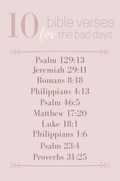 10 Bible Verses for a Bad Day | Something Shannon