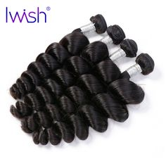 Brazilian Hair Weave Bundles Loose Wave Human Hair Weaving Extensions Iwish Hair Products 1 Piece Natural Color Remy Hair