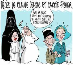 Alex (2016-12-28) Décés:  Claude Gensac, Carrie Fisher,