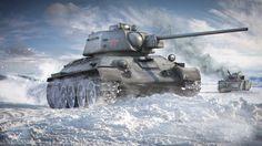 Un T-34/76 avanza tras dejar atrás un lo que parece un Panzer IV destruido, invierno de 1943. Más en www.elgrancapitan.org/foro/