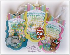 Party Shaker tags - The Scrappin Rabbit: Shaker Tag Video Tutorial