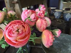 This faux ranunculus look so real, it's hard to tell whether they are real or fake Ranunculus, Faux Flowers, Seasons, Rose, Plants, Style, Fake Flowers, Swag, Pink