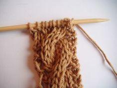 A la Sascha: Een fijn lesje in kabels breien En nu is het mij eindelijk gelukt om een kabel te breien!