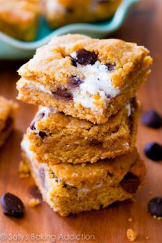 Totally have these in the oven right now....s'mores cake bars?  YES, PLEASE!