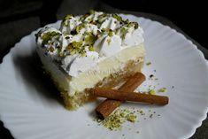 Εκμέκ κανταΐφι, ένα γλυκό ανεπανάληπτο Greek Desserts, Easy Desserts, Cheesecake, Deserts, Food And Drink, Sweets, Kitchen, Recipes, Cheesecakes