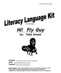 Hi! Fly Guy Literacy Language Kit from Jill Kuzma's SLP Social & Emotional Skill Sharing Site. Did the story sequencing activity after reading Hi! Fly Guy by Tedd Arnold
