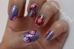 One stroke flowers & Glitter