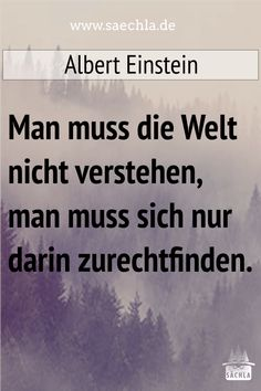 You do not have to understand the world, you just have to get used to it. Albert Einstein # Swabian # Sayings Study Motivation, Quotations, Cards Against Humanity, Wisdom, How To Get, Science, T Shirt, Sayings, Quotes
