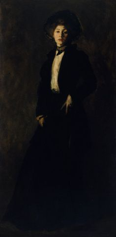 Style.  Robert Henri, 1902 Young Woman in Black | The Art Institute of Chicago